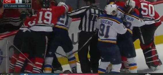 A Lot Went On During Tuesday Night's Blackhawks vs. Blues Game