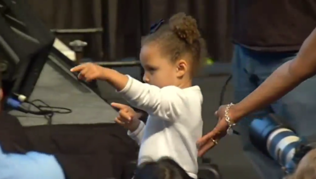 Riley Curry Stole the Show At Steph's MVP Presentation