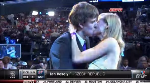 Prepare For the 2016 NBA Draft By Reminiscing About Jan Vesely Making Out With His Girlfriend In the NBA Draft Green Room