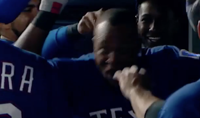 Reminder: Don't EVER Touch Adrian Beltre's Head