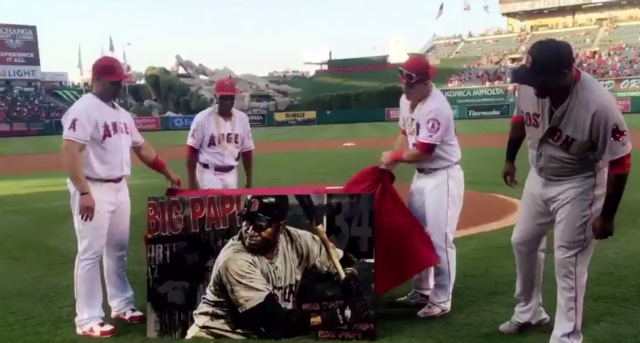 Mike Trout Presented David Ortiz's Retirement Gift In Awesome Fashion