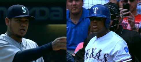 Felix Hernandez and Adrian Beltre Chirp One Another
