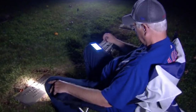 Cubs Fan Drives 600 Miles To Listen To Game 7 At His Father's Grave