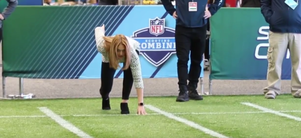 Lions Beat Writer Runs Impressive 40-Yard-Dash In Heels