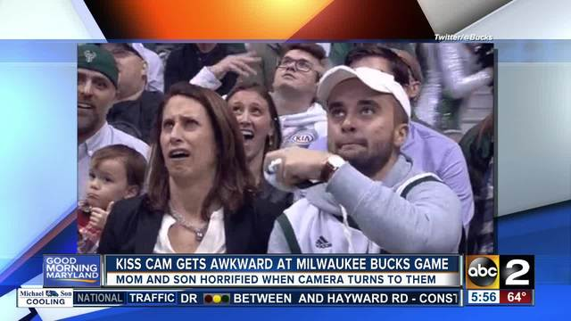 Video: Incredibly Awkward Kiss Cam Moment at Bucks Game