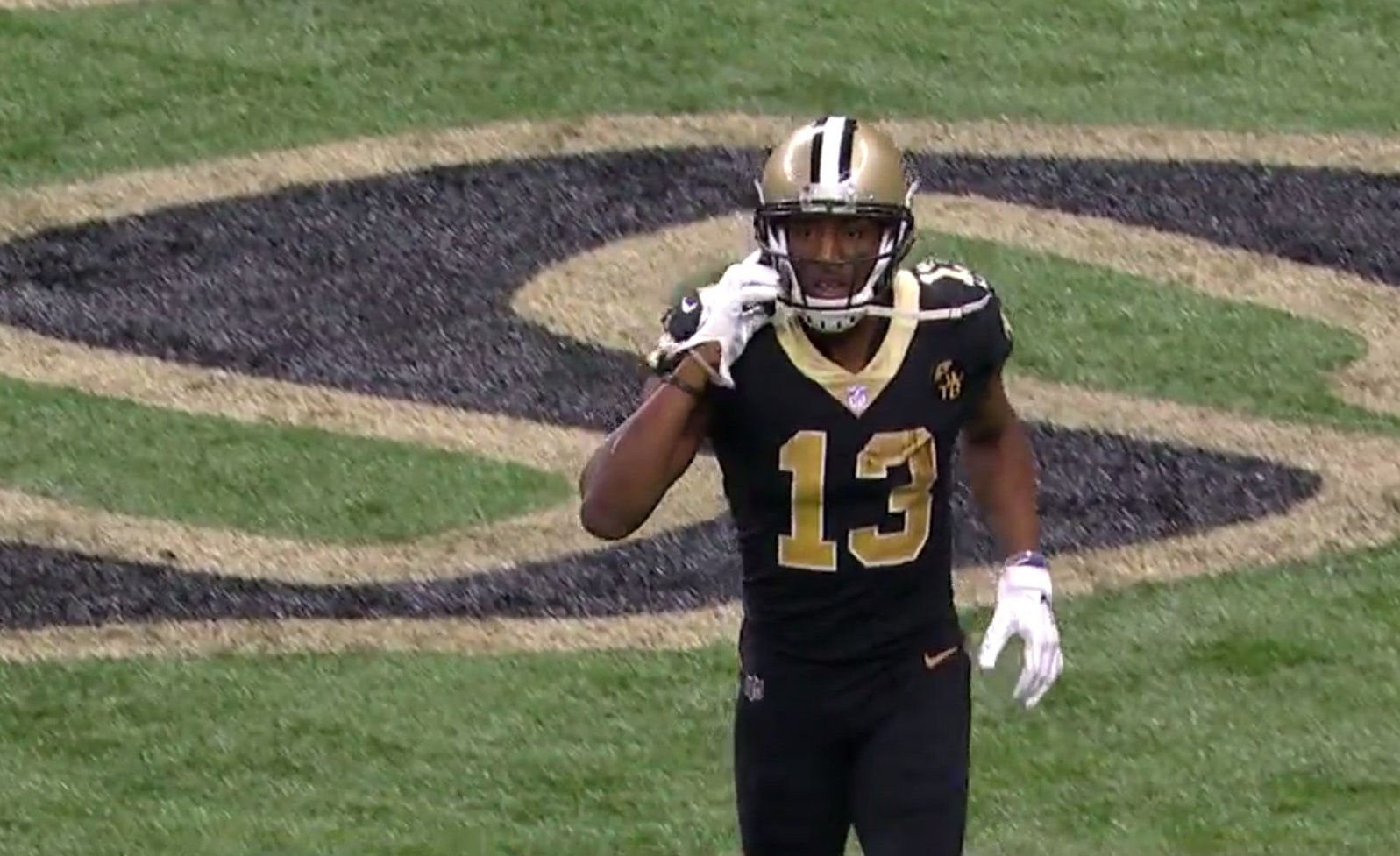 more photos 3f218 d3626 Michael Thomas pulled a Joe Horn for his touchdown celebration